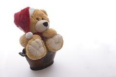Giant christmas teddy bear stock photo