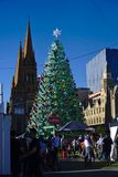 Giant Christmas tree in Melbourne royalty free stock image