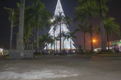 Giant Christmas Tree of Tagum City. Tagum Davao del Norte, Philippines Royalty Free Stock Photos