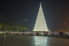 Giant Christmas Tree of Tagum City, Tagum Davao del Norte, Phili Royalty Free Stock Photography