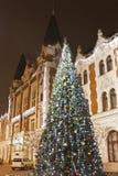 Giant christmas tree Royalty Free Stock Image