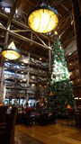 The Giant Christmas Tree at Wilderness Lodge Royalty Free Stock Image