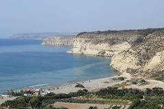 Giant cliffs. In Cyprus in summertime stock photography