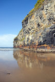 Giant cliffs of Ballybunion on the wild atlantic way Stock Image
