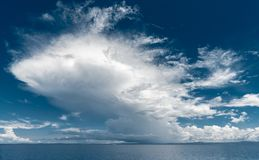 Giant cloud above the sea royalty free stock photography