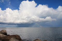 Giant clouds. Over the sea Royalty Free Stock Photography