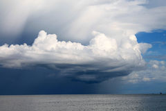 Giant clouds. Over the sea Royalty Free Stock Photo