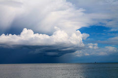 Giant clouds. Over the sea Stock Image