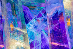 Giant colored ice crystals Stock Photo