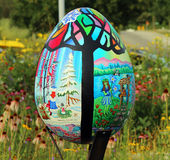 Giant Colorful Egg Art Stock Images