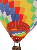 A giant colorful fire balloon stock photo