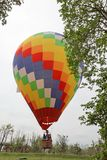 A giant colorful fire balloon stock image