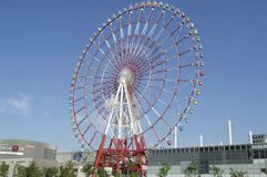 Giant colourful wheel in tokyo city Royalty Free Stock Image