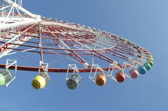 Giant colourful wheel in tokyo Stock Photography