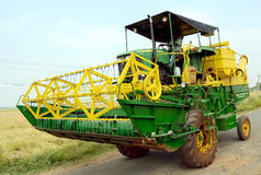 GIANT COMBINE HARVESTER Royalty Free Stock Photography