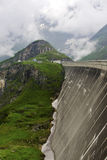 Giant concrete dam wall of Kaprun power plant Royalty Free Stock Photos