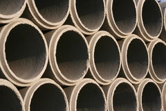 Giant concrete pipes Stock Photography