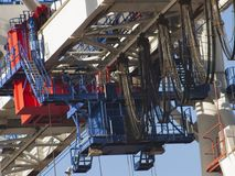 Giant container crane details Stock Photo