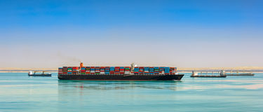 Giant container ship Stock Image