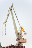 Giant crane ship building Stock Image