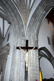 Giant crucifix of Christ on the wal Royalty Free Stock Photos