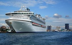 Giant Cruise Ship Docks in Taiwan Royalty Free Stock Photography