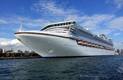 Giant Cruise Ship Docks in Taiwan Royalty Free Stock Images