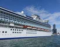 Giant Cruise Ship Docks in Taiwan Royalty Free Stock Photos