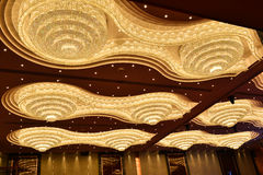 Giant crystal lighting Stock Photos
