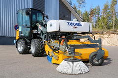Giant D337T Wheel Loader with Sweeper Royalty Free Stock Image