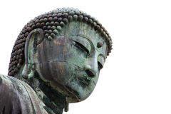 Giant Daibutsu face in closed up view Stock Images