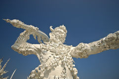 Giant of death in White Temple Northern Thailand Stock Photo