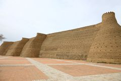 Defending walls in Buchara, Uzbekistan. Giant Defending walls in Buchara, Uzbekistan royalty free stock photo