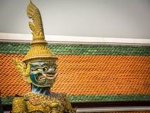 Giant demon Guardian in Wat Phra Kaew temple, Royal Palace Bangkok. Royalty Free Stock Photography