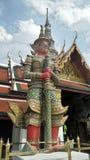 Giant demon guarding an entrance to Wat Phra Kaew Royalty Free Stock Photo