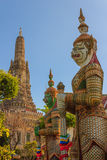 Giant Demon at Wat Arun Bangkok Royalty Free Stock Photo