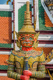 Giant demon yaksha Atsakanmala grand palace bangkok thailand Stock Images