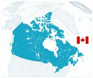 Giant detailed map of Canada. No text. Vector illustration Stock Image