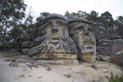 Giant devil's heads Stock Image