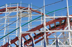 Giant Dipper roller coaster tracks Royalty Free Stock Images