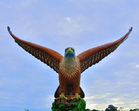 The giant eagle statue in Langkawi Island. The big eagle statue in Langkawi Island, one of the most famous tourist spot for taking photos Royalty Free Stock Image
