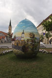 Giant Easter egg in the City of Zagreb Croatia Stock Photography