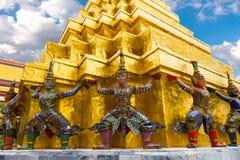 The Giant at the Emerald Buddha. Bangkok, Thailand 2016 Royalty Free Stock Image