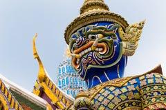 The Giant at the Emerald Buddha, Bangkok, Thailand. Demon Guardian Wat Phra Kaew Grand Palace Bangkok Royalty Free Stock Photos