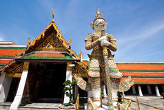 Giant of Emerald Buddha Temple. At Thailand Royalty Free Stock Images
