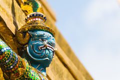 The Giant at the Emerald Buddha Temple Royalty Free Stock Image