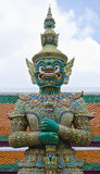 Giant at Emerald Buddha temple. Stock Images