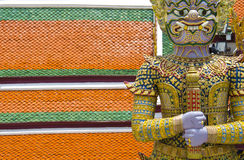 Giant at Emerald Buddha temple Stock Photography