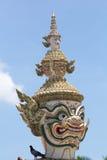 Giant Emerald Buddha Temple. Giants guard Emerald Buddha Temple Stock Photos