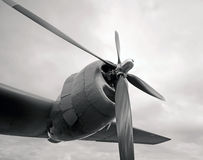 Giant engine and propeller Royalty Free Stock Photos